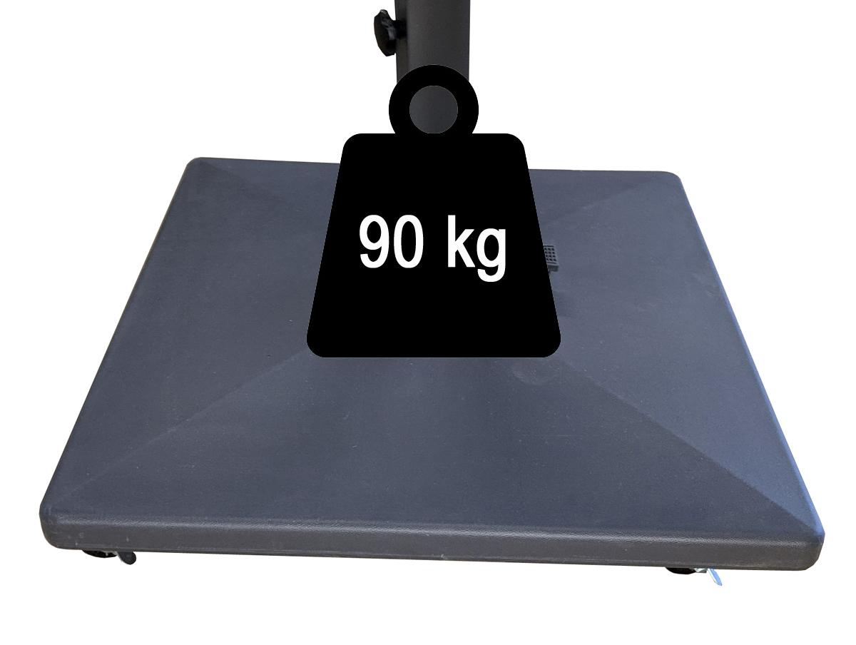 Pied à roulettes 90kg pour parasol excentré