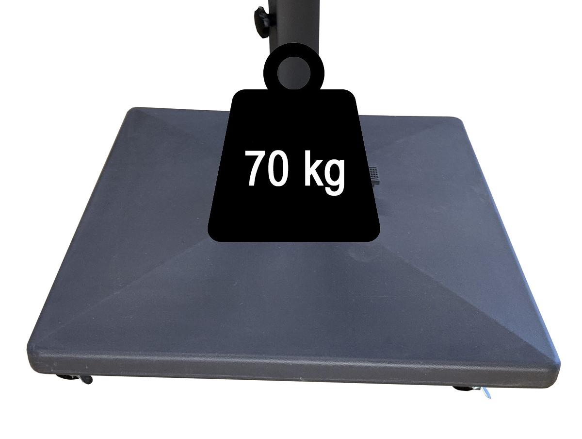 Pied à roulettes 70kg pour parasol excentré