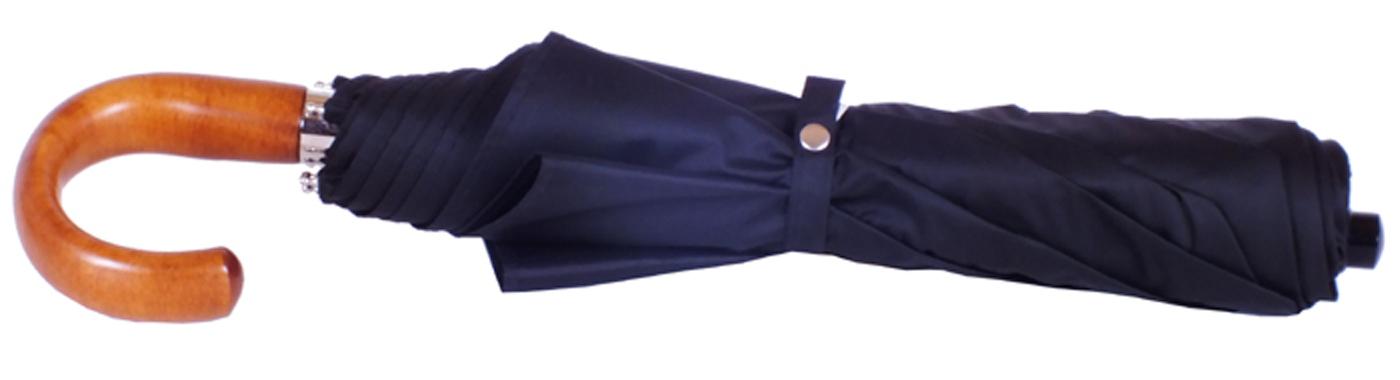 Grand parapluie pliant automatique homme noir