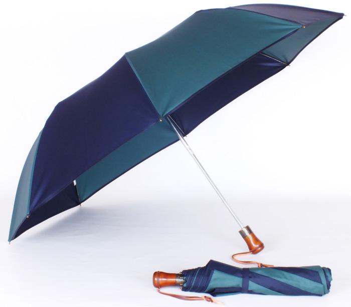 Parapluie pliant automatique vert/marine