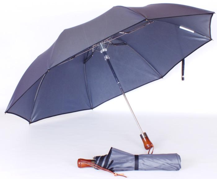 Parapluie pliant automatique gris