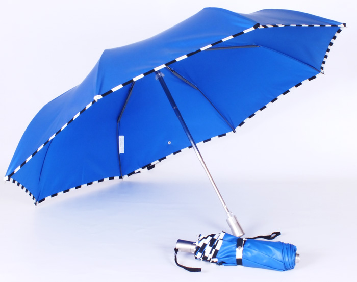 Parapluie mini damier bleu