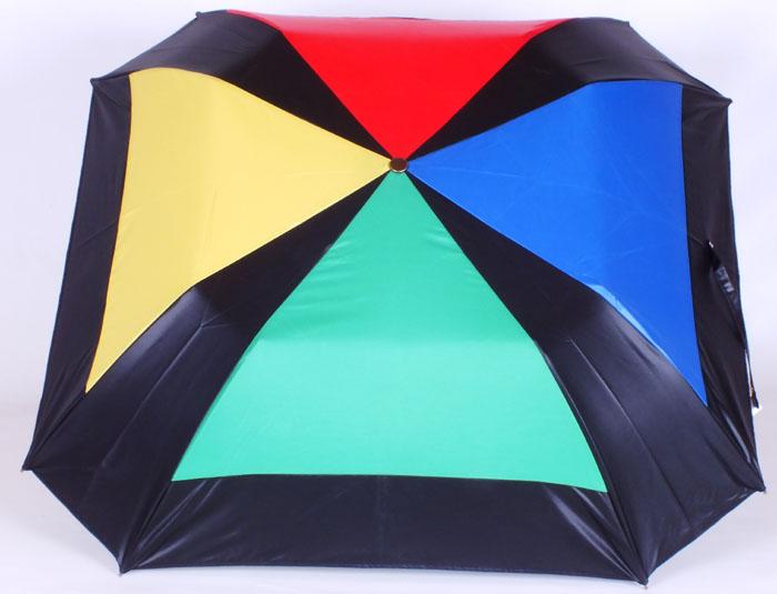 Parapluie pliant carré multicolore