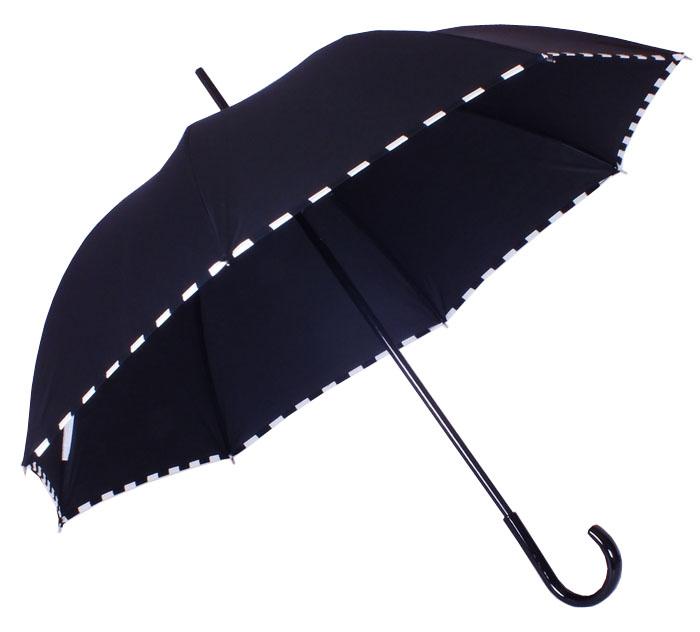 Parapluie droit damier noir