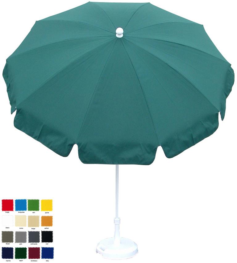 parasol rond Ø200cm à 10 baleines  à votre couleur . Délai 7 jours ouvrés !