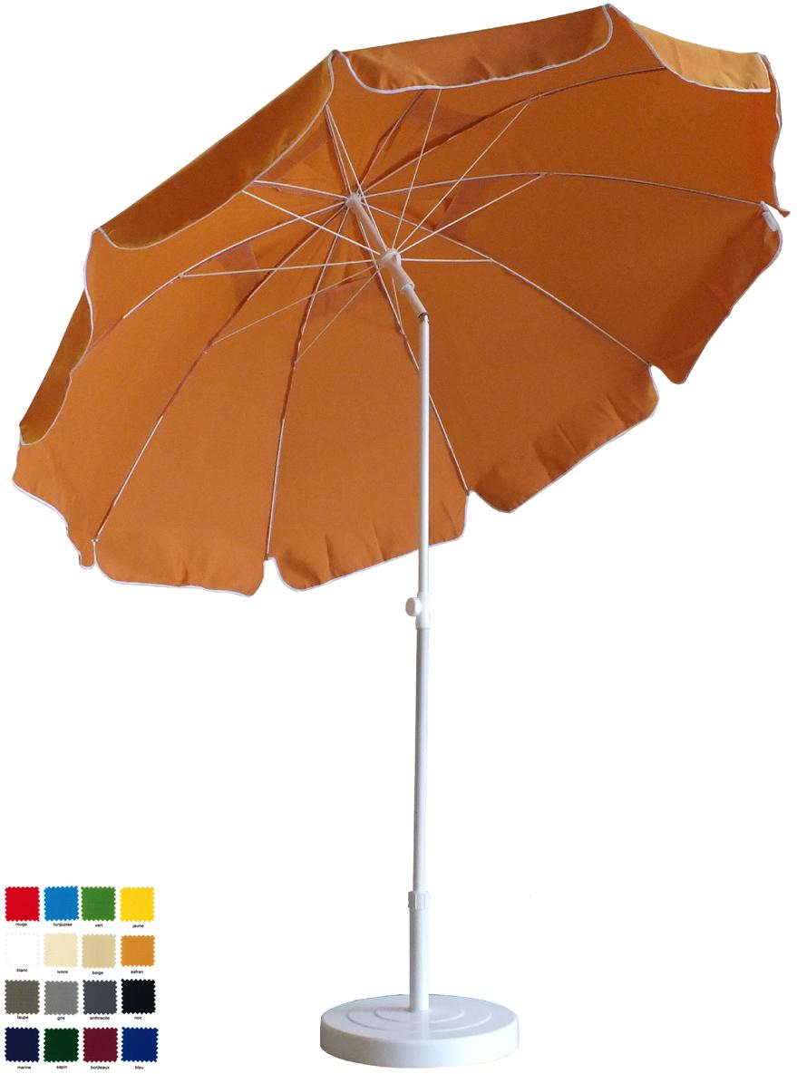 parasol rond Ø240cm à 10 baleines  à votre couleur . Délai 7 jours ouvrés !