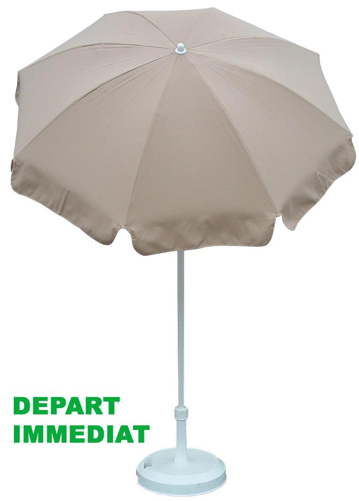 Parasol Ø150cm, voir les couleurs en stock !