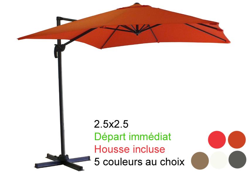 parasol excentr avec sa housse d part imm diat parasol excentr d port. Black Bedroom Furniture Sets. Home Design Ideas