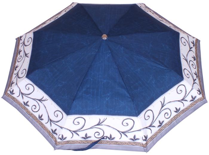Parapluie mini automatique frise bleu