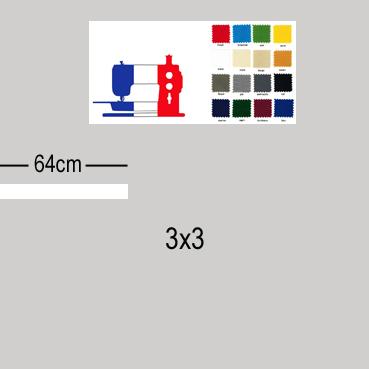 Toile de remplacement haut de gamme parasol excentré carré 3x3