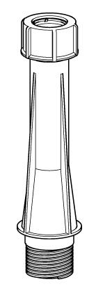 Tube de rechange pour pied béton 18 kg avec poignée et pied balcon 20 kg excentré