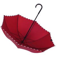 Parapluie droit damier rouge carmin