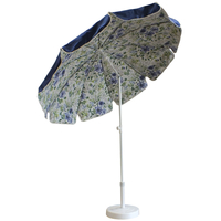 Parasol doublé Ø200 bleu marine