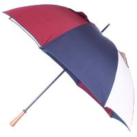 parapluie golf anti-vent bordeaux/marine