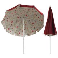 parasol rond Ø200cm doublé bordeaux