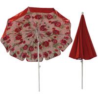 Parasol doublé Ø200 rouge