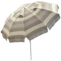 parasol rond Ø240 à rayure beige