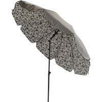 Parasol doublé Ø250cm fer forgé taupe