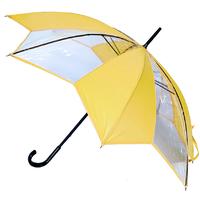 parapluie transparent tulipe jaune