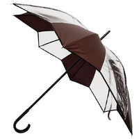 parapluie transparent tulipe cacao