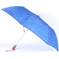 parapluie pliant acier suédine bleu