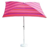 parasol rectangulaire 200x150 rayé fushia