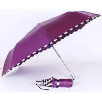 Parapluie mini damier prune