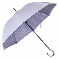 Parapluie dentelle gris