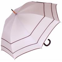 Parapluie droit trois ganses beige