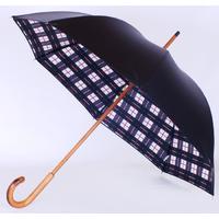 Parapluie doublé écossais noir