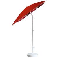 Parasol rectangulaire 200x150 doublé rouge