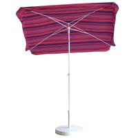parasol rectangulaire 165x100 rayé fushia