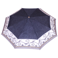 Parapluie mini automatique frise noir