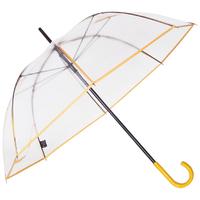Parapluie transparent gansé jaune