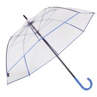 Parapluie transparent gansé bleu