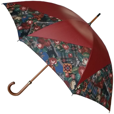 Parapluie moulin patchwork bordeaux