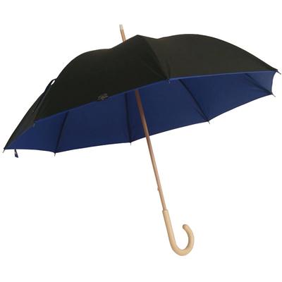 Parapluie doublé noir intérieur bleu