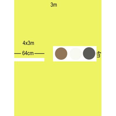 Toile de remplacement polyester parasol excentré 4x3