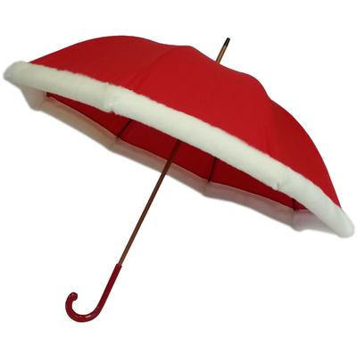 Parapluie fourrure rouge Noël