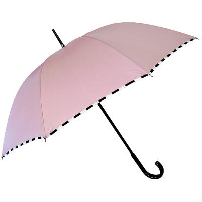 Parapluie damier rose poudré