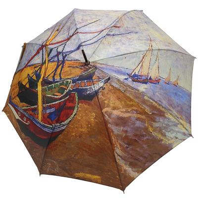 """Parapluie Van Gogh """"Les barques aux Saintes-Maries"""""""