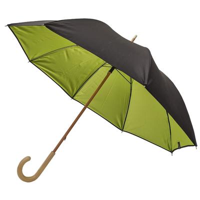 Parapluie noir doublé vert anis