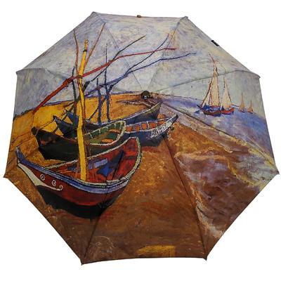 """Parapluie mini automatique peintre Van Gogh """"barques aux Sainte Marie"""""""