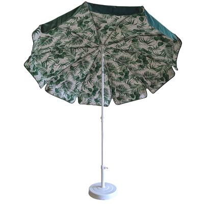Parasol rond Ø240cm doublé vert sapin