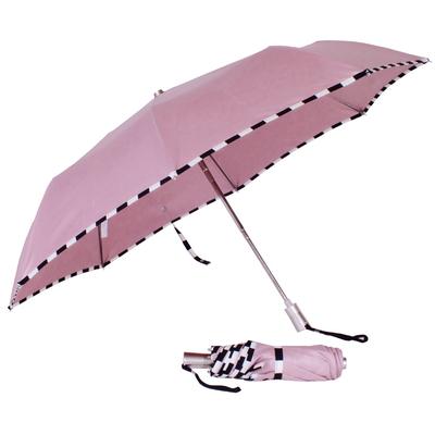 parapluie mini pliant damier rose balerine