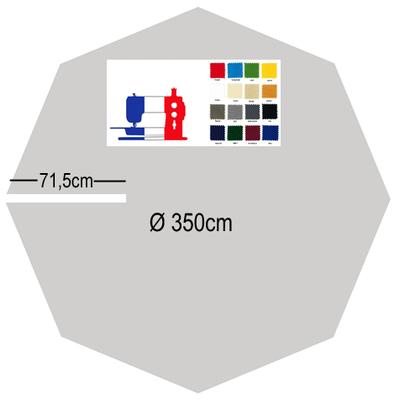 Toile de remplacement haut de gamme parasol excentré Ø350
