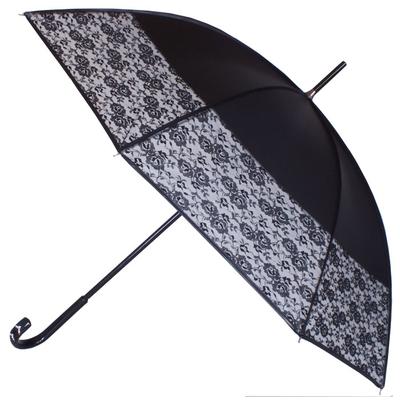 Parapluie bandeau dentelle gansé noir