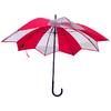 parapluie transparent tulipe rouge