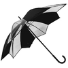 parapluie tulipe transparent noir