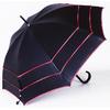 Parapluie trois ganses rouge et noir